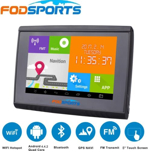 Free Map US 5/'/' Android GPS Navigator 512M RAM 8GB Flash For Motorcycle//Car