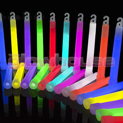 50x 6 inch 1.5cm Thick Glow Sticks - Single or Mixed Colour 6