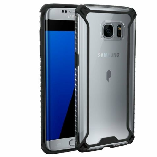 Case For Samsung Galaxy S7 Edge POETIC【Affinity】Premium Thin Bumper Case Black