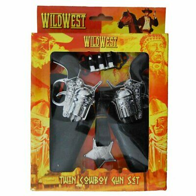 Wild West Twin Cowboy Gun & Holster Set - Wild West Dress Up