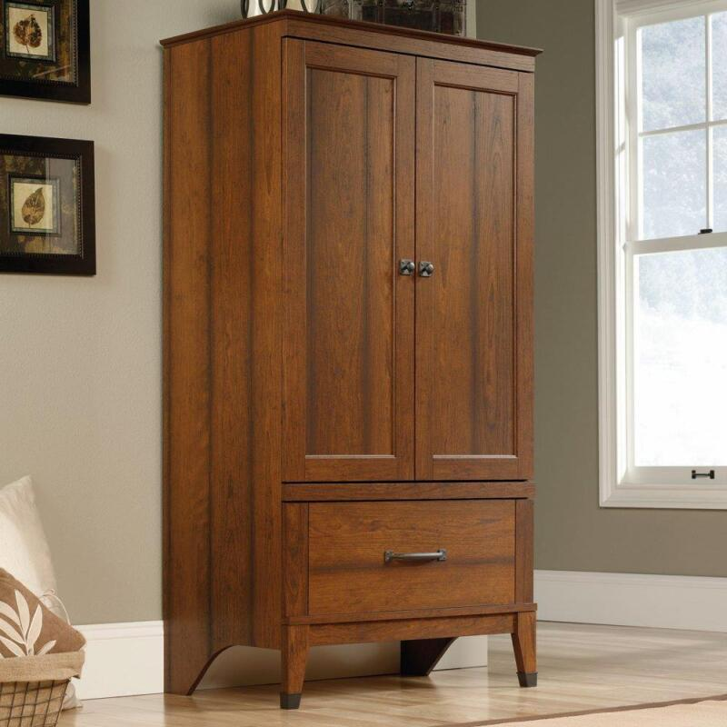 Wardrobe Armoire Storage Closet Bedroom Furniture Cabinet Wood Clothes Organizer