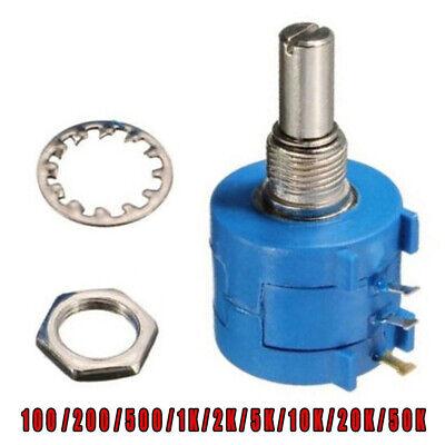 Precision Potentiometer Multi-turn Pot Equipment Accessory 50-50k 10turn