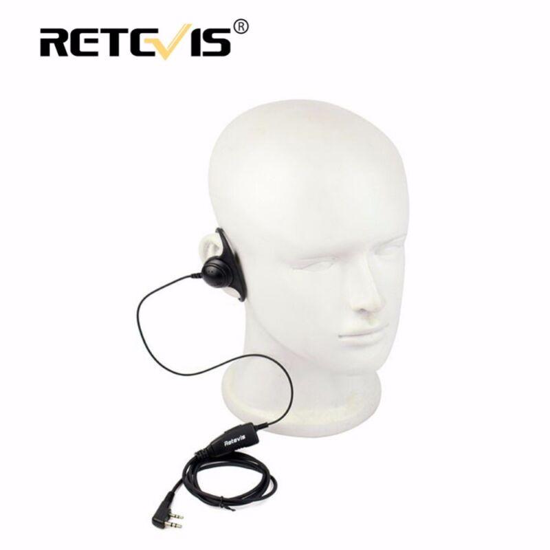 Retevis D shape Soft Ear Hook Earpiece 2Pin PTT Mic Headset For Kenwood For Baof