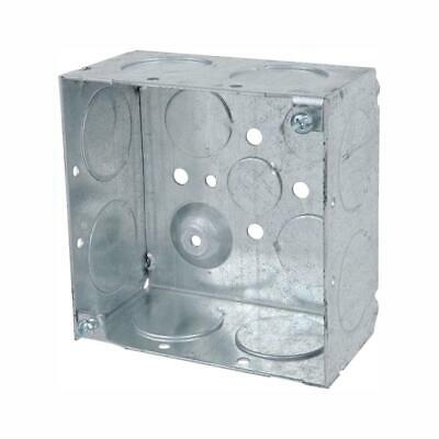 Steel City 1-gang Metal Square Electrical Box 4 In. 30.3 Cu. In. Case Of 25