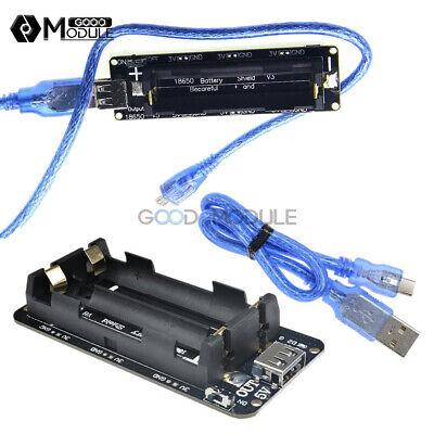 18650 Battery Shield V8v3 Usb Mobile Power Bank Board For Wifi Esp32 Esp8266