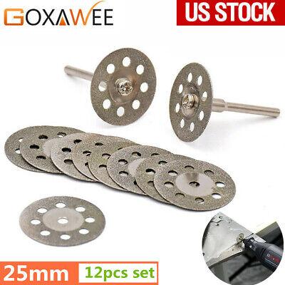 GOXAWEE Diamond Cutting Discs Wheel Cut Off Saw Blade for Dremel Rotary Tool (Diamond Cut Off Blade)