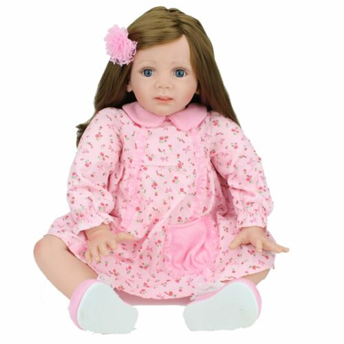 "24"" Reborn Baby Dolls Toddler Soft Vinyl Silicone Handmade Girl Xmas Gift Doll"
