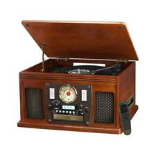 Victrola 8-in-1 Wooden Music Centre & Turntable