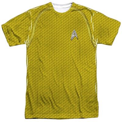 Authentic Star Trek Movie Command Costume Outfit Uniform Allover Front T-shirt