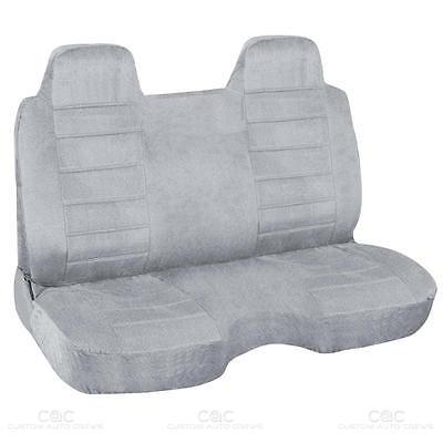 Gray Regal Tweed Bench Seat Cover for Pickup Trucks Semi-Custom Fit
