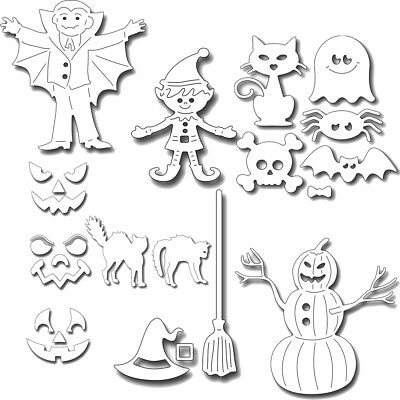 Craft Halloween Cards (Halloween Supplies Metal Cutting Dies Stencil Scrapbooking Album Gift Card)