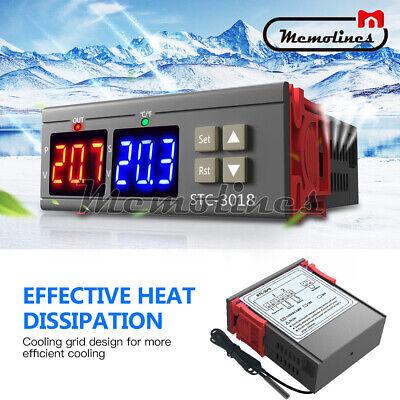 Stc-3018 Ac 110v-220v Digital Dual Temperature Controller Thermostat Ntc Porbe