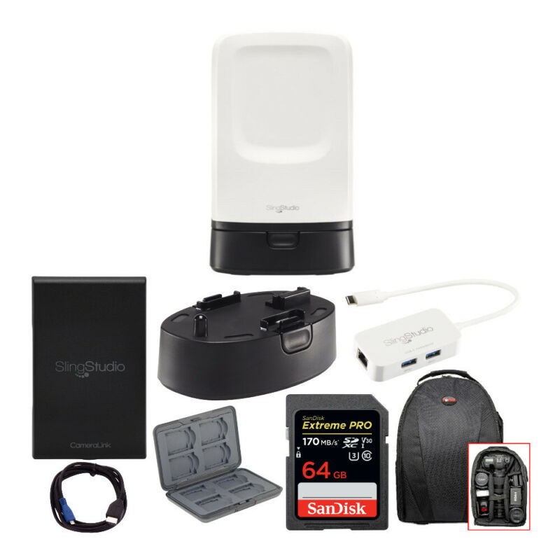 SlingStudio Hub Portable Wireless Broadcast HD Video Production Unit bundle