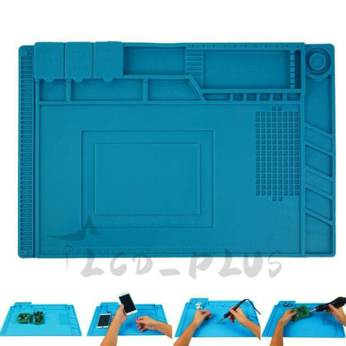 Silicone Pad Phone Repair Magnetic Heat Insulation Soldering Iron Desk Work Mat