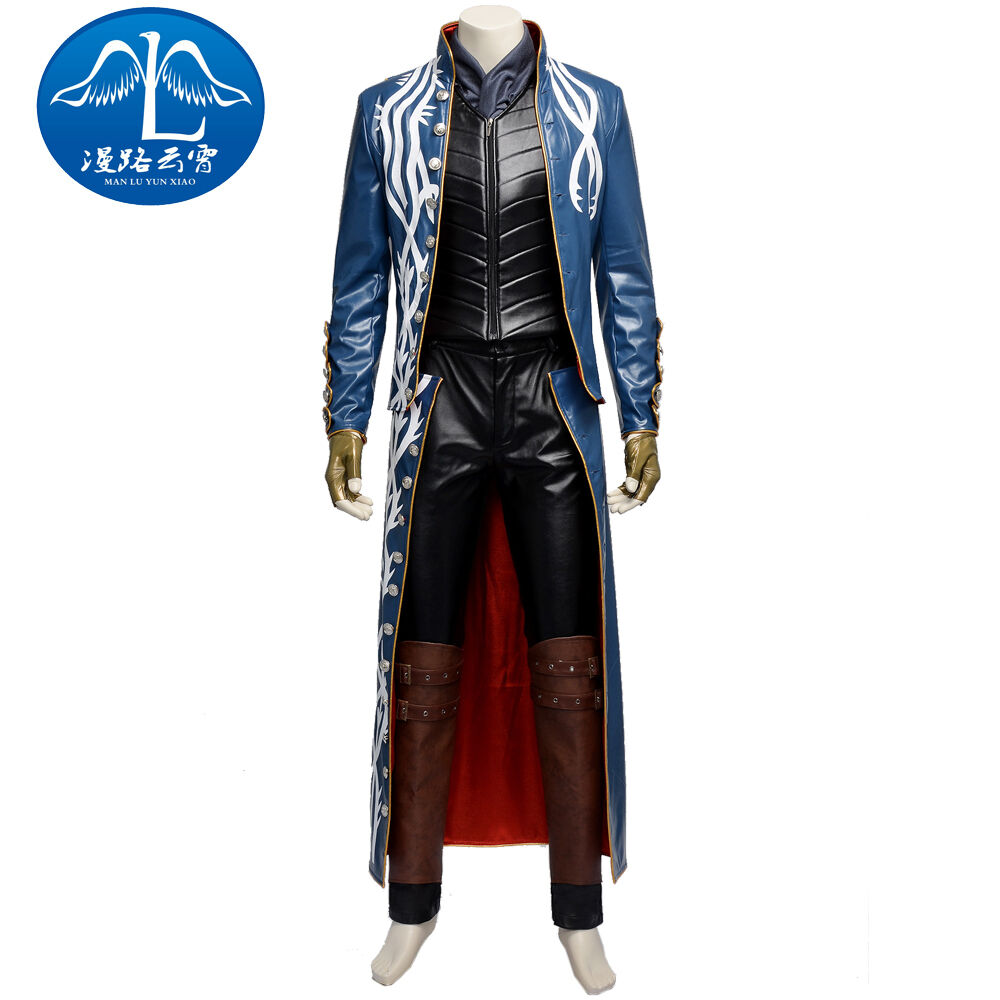 DFYM Devil May Cry 3 Vergil Cosplay Game Costume Full Set Customized Halloween