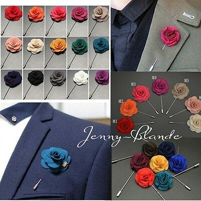 (Men Accessories Lapel Flower Daisy Handmade Boutonniere Stick Brooch Pin Wedding)