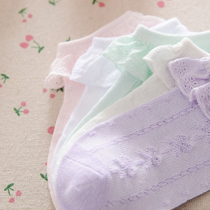 Spanische gestrickte Baumwolle Blended Knöchelsocken Baby Girl Boys Neugeborene