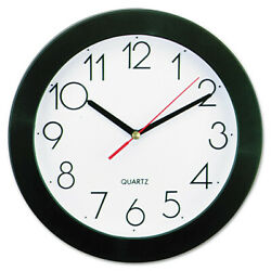 Universal 10421 9-3/4 in. Round Wall Clock (Black) New