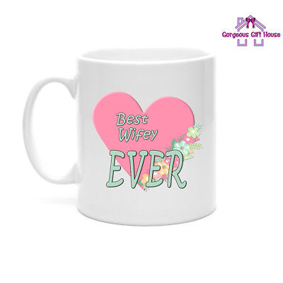 Gifts For Her, Best Wifey Ever Mug, Valentine's Day Gift for Wife, Wife
