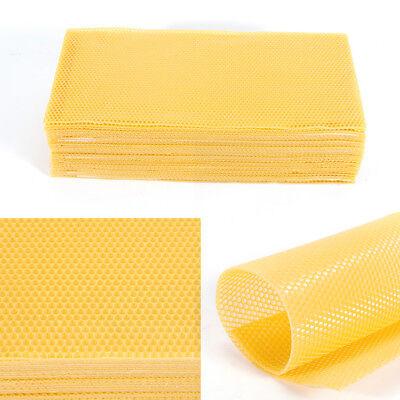 30x Farm Supplies Beekeeping Honeycomb Wax Frames Foundation Bee Hive 415mm Us