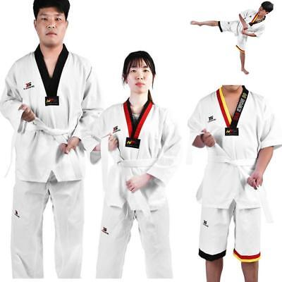 Taekwondo Martial Arts Suit Uniform Karate Taekwon Costume Set for Kids & Adults - Karate Costumes For Kids