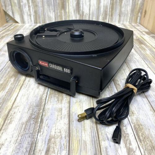 VTG Kodak Carousel 600 Slide Projector w/ Power Cord WORKS BUT DOES NOT ADVANCE