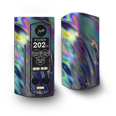 Skin Decal for Wismec Reuleaux RX Gen3 Dual Vape / Oil Slick Opal Colorful Resin