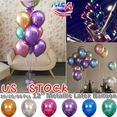 100x12 Inch Colourful Latex Helium Balloons Pearl Crystal Metallic Balloon Party ()