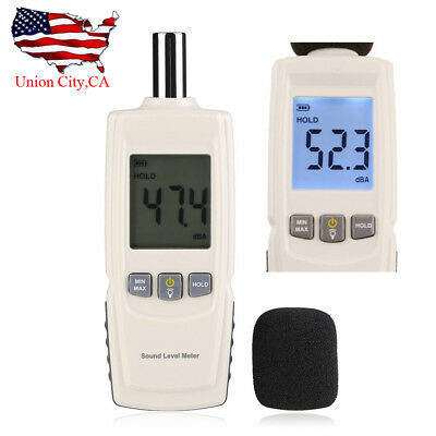 Lcd Digital Sound Noise Tester Pressure Level Meter Decibel Measurement 30-130db