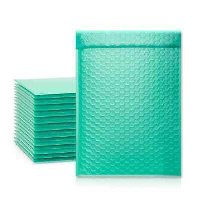 250 0 Teal Poly Bubble Mailers Envelopes Bags 6x10 Extra Wide Cd Dvd