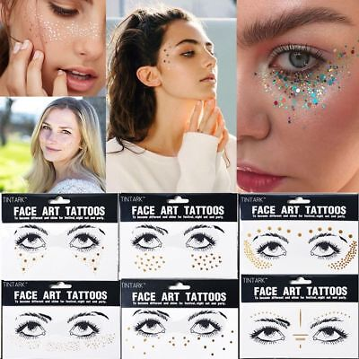 Beauty Temporary Body Art Gold Face Tattoo Stickers Bronzing Freckles ()