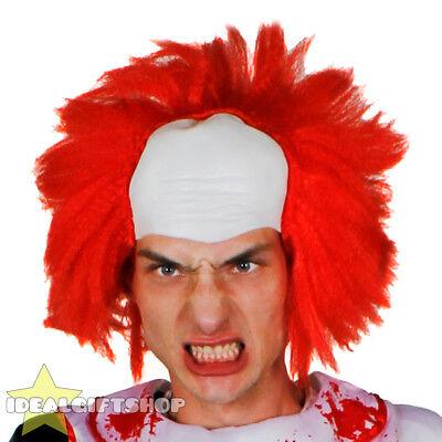RED MEN'S KILLER CLOWN WIG ADULTS HALLOWEEN FANCY DRESS HORROR CIRCUS EVIL SCARY](Redman Halloween)