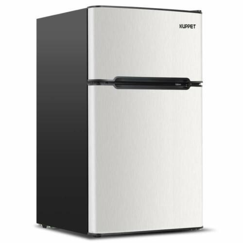 3.2 Cu Ft Compact  Mini Fridge 2-Door RefrigeratorTop Freeze