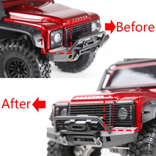 Front Bumper Vordere Stoßfänger LED Licht Lights für RC Crawler Traxxas TRX-4