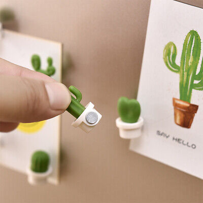 6x Cute Fridge Magnets Button Cactus Refrigerator Message Stickers Home Decor - Cute Magnets
