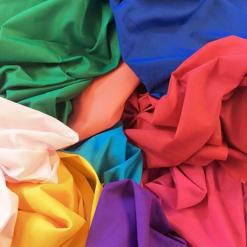 cotton polyester broadcloth fabric apparel 45 solid