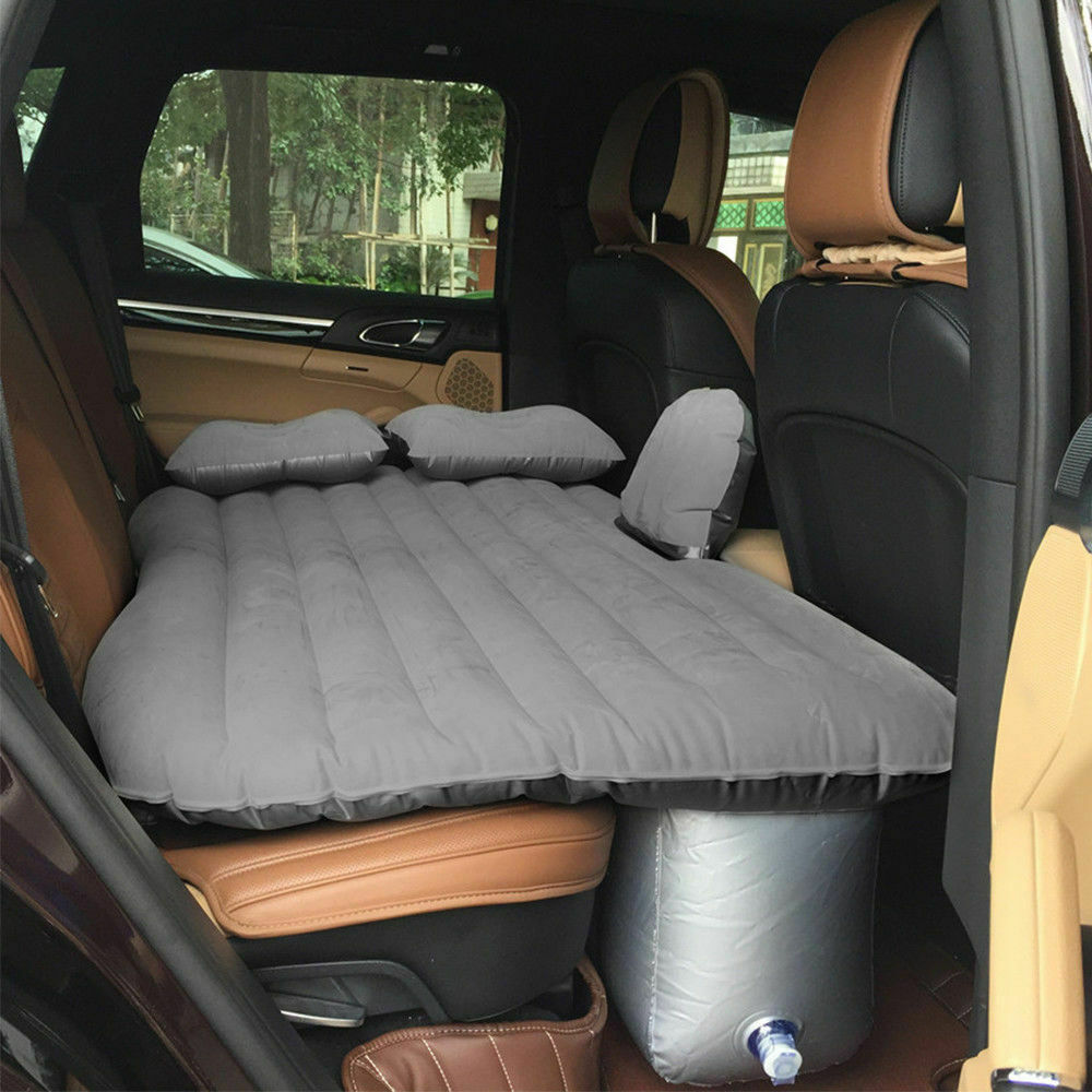 Flocking Inflatable Bed Car Back Seat Mattress Airbed&pump f