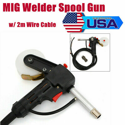24v Mig Welder Spool Gun Push Pull Feeder Aluminum Welding Torch 6ft Wire Cable