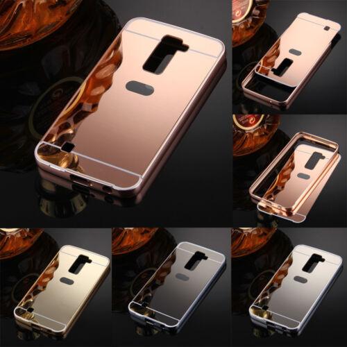 $5.99 - Luxury Slim Metal Bumper Frame PC Back Cover Mirror Case Skin for LG Many Phones