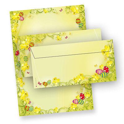 NEU Briefpapier Ostern beidseitig Motivpapier Briefbogen Briefe für Osterpost