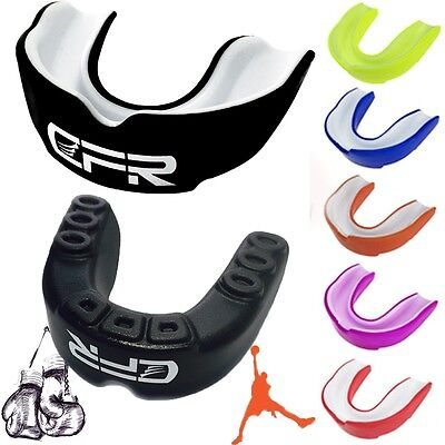 New CFR Shock CFR Double Braces Mouthguard Mouth Piece Basketball w/ Case GG