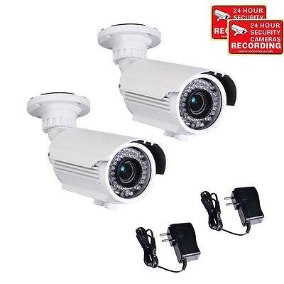 2x Outdoor Security Camera 700TVL 42 IR LEDs with Sony Effio Color CCD Power - 2 Outdoor Ccd Color Cameras