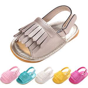 Bebe-Recien-Nacido-Nina-Zapatos-Cuna-Flecos-Cuero-Suave-Sandalias-Antes-De-Andar