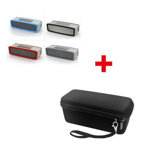 EVA Storage Case Bag + Soft Silicone Cover For Bose Soundlink Mini I II Bluetoot