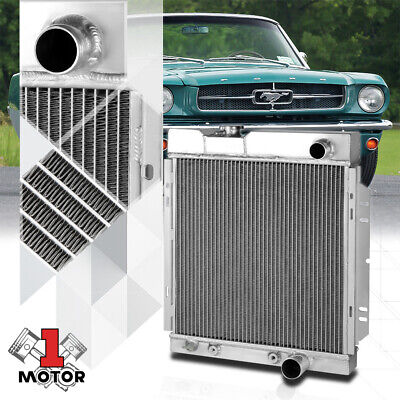 Aluminum 2 Row Core Performance Cooling Radiator for 64-66 Ford Mustang AT/MT