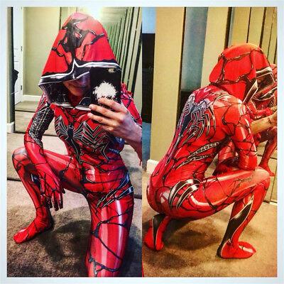Lady Venom Spider-man Gwen Stacy Halloween Cosplay Costume Zentai Girl Hooded
