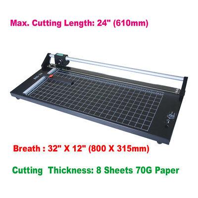 24 Inch Manual Precision Rotary Paper Trimmer Cutter Sharp Photo Paper Cutter