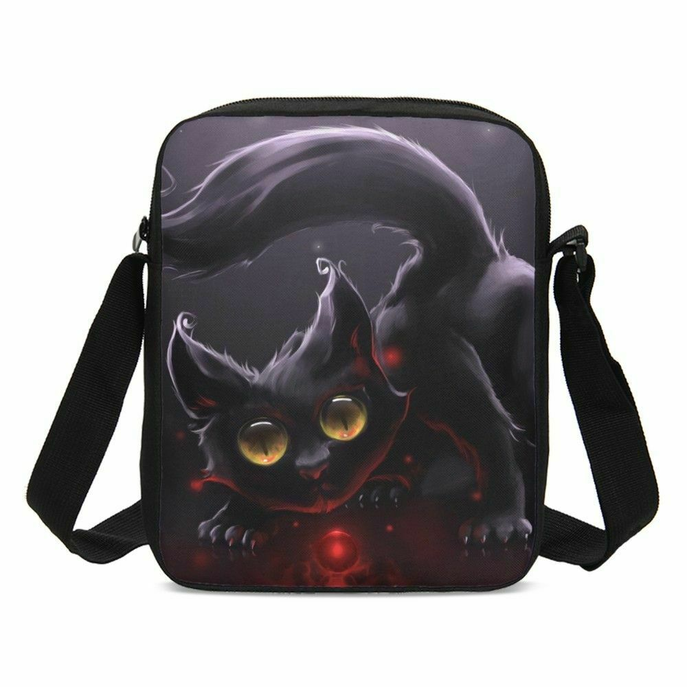 Cat Pattern Small Cross-body Bag Purse Satchel Shoulder Bag