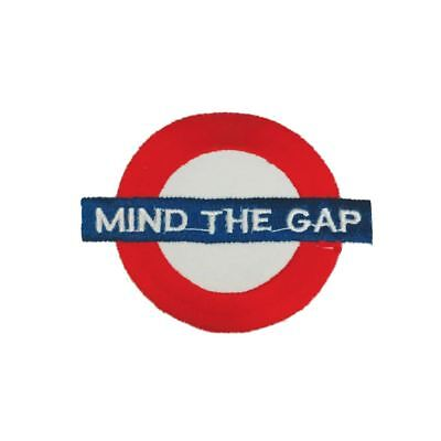 Mind The Gap London Underground (Iron On) Embroidery Applique Patch Sew Badge