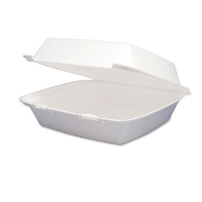Dart Dcc85ht1r 200carton 1-compartment Foam Hinged Lid Containers - White New